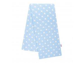 Bavlnená plienka s potlačou New Baby modrá s bodkami