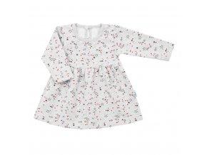 Dojčenské šatôčky s dlhým rukávom New Baby For Girls hviezdičky