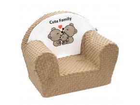 Detské kreslo z Minky New Baby Cute Family cappuccino