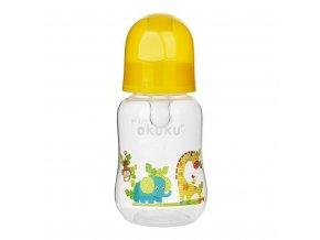 Fľaša s obrázkom Akuku 125 ml žirafa žltá