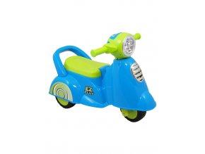 Detské odrážadlo motorka so zvukom Baby Mix Scooter modré