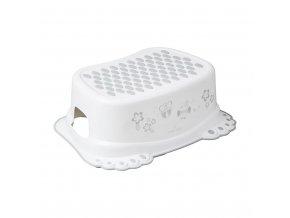 Detské protišmykové stúpadlo do kúpeľne sova biele