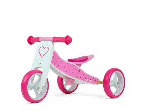 Detské multifunkčné odrážadlo bicykel 2v1 Milly Mally JAKE Hearts