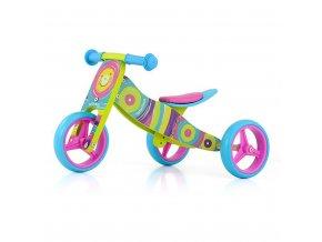 Detské multifunkčné odrážadlo bicykel Milly Mally JAKE Rainbow