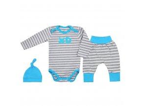3-dielna bavlnená dojčenská súprava Koala XD modrá