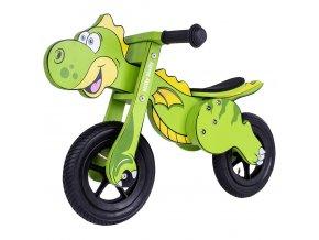 Detské odrážadlo bicykel Milly Mally DINO Mini green