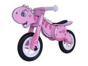 Detské odrážadlo bicykel Milly Mally DINO Mini pink