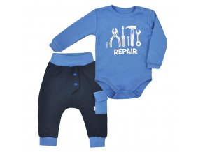 2-dielna bavlnená dojčenská súprava Koala Repair blue