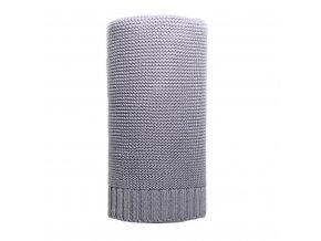 Bambusová pletená deka NEW BABY 100x80 cm sivá