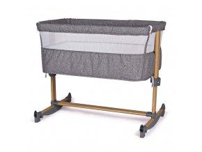 Prístavná postieľka k posteli rodičov s hojdačkou Baby Mix Grey