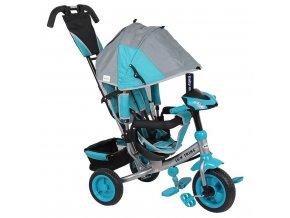 Detská trojkolka so svetlami Baby Mix Lux Trike sivo-modrá
