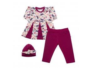 3-dielna bavlnená súprava New Baby Little Girl