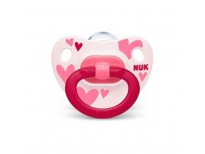 Dojčenský cumlík  NUK Happy Days 18 +m ružovo biely BOX