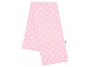 Bavlnená plienka s potlačou New Baby rúžová biele bodky