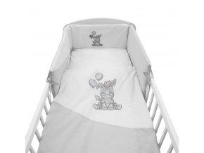 3-dielne posteľné obliečky New Baby Zebra exclusive 90/120 bielo-sivé