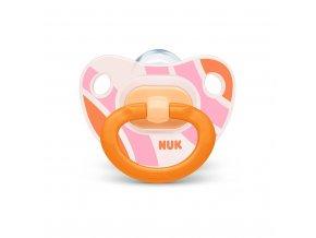 Dojčenský cumlík  NUK Happy Days 18 +m oranžový BOX