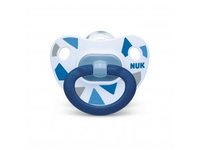 Dojčenský cumlík  NUK Happy Days  6-18 m modrý BOX