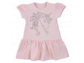 Dojčenské letné šaty Koala Unicorn Summer ružové