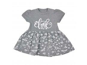 Dojčenské letné šaty Koala Love Summer grey