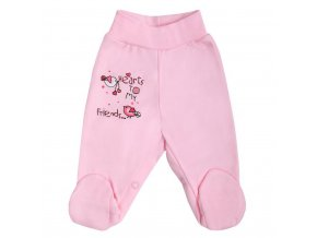 Dojčenské polodupačky Bobas Fashion Benjamin ružové
