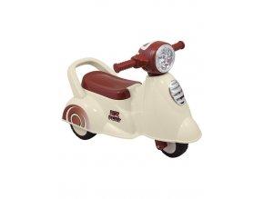 Detské odrážadlo motorka so zvukom Baby Mix Scooter biele