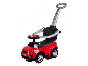 Detské hrajúce vozítko 3v1 Bayo Sport Car red