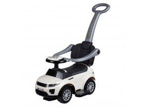 Detské hrajúce vozítko 3v1 Bayo Sport Car white