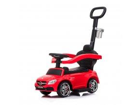 Detské odrážadlo s vodiacou tyčou Mercedes Benz AMG C63 Coupe Bayo red