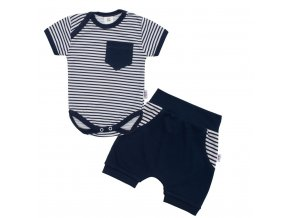 2-dielna letná bavlnená súprava New Baby Perfect Summer modrá