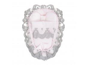 Hniezdočko s perinkou pre bábätko Belisima Belisima ružové