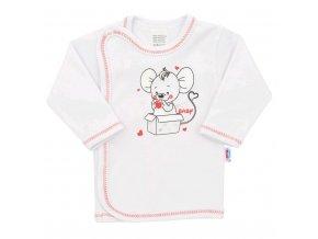 Dojčenská košieľka New Baby Mouse biela