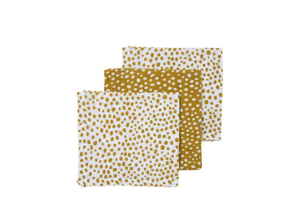 457037 Meyco hydrofiele monddoekjes cheeta honey gold 30x30