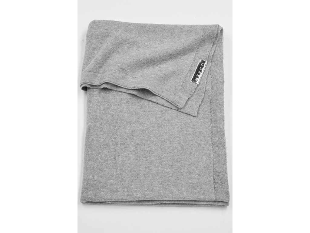 Resize of 2733004 2753004 meyco deken knit basic grijs melange g 30574071917 o