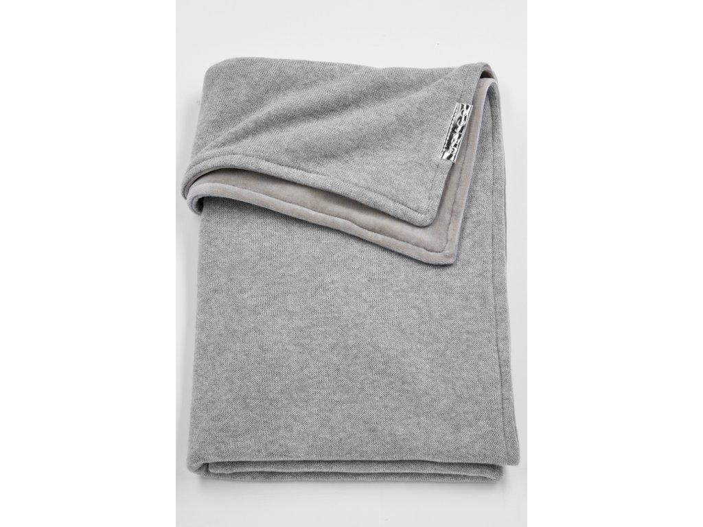Resize of 2734004 2754004 meyco deken met velours knit basic grijs melange g 30574073787 o