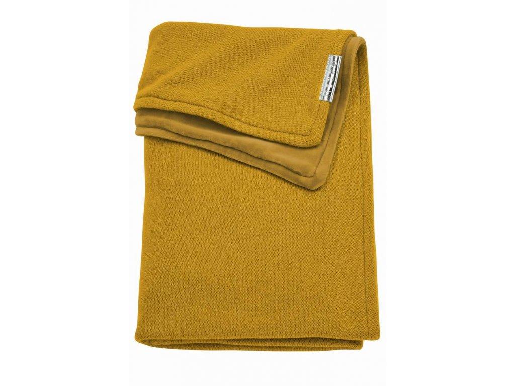Resize of 2734023 2754023 meyco deken met velours knit basic okergeel g 44635257265 o