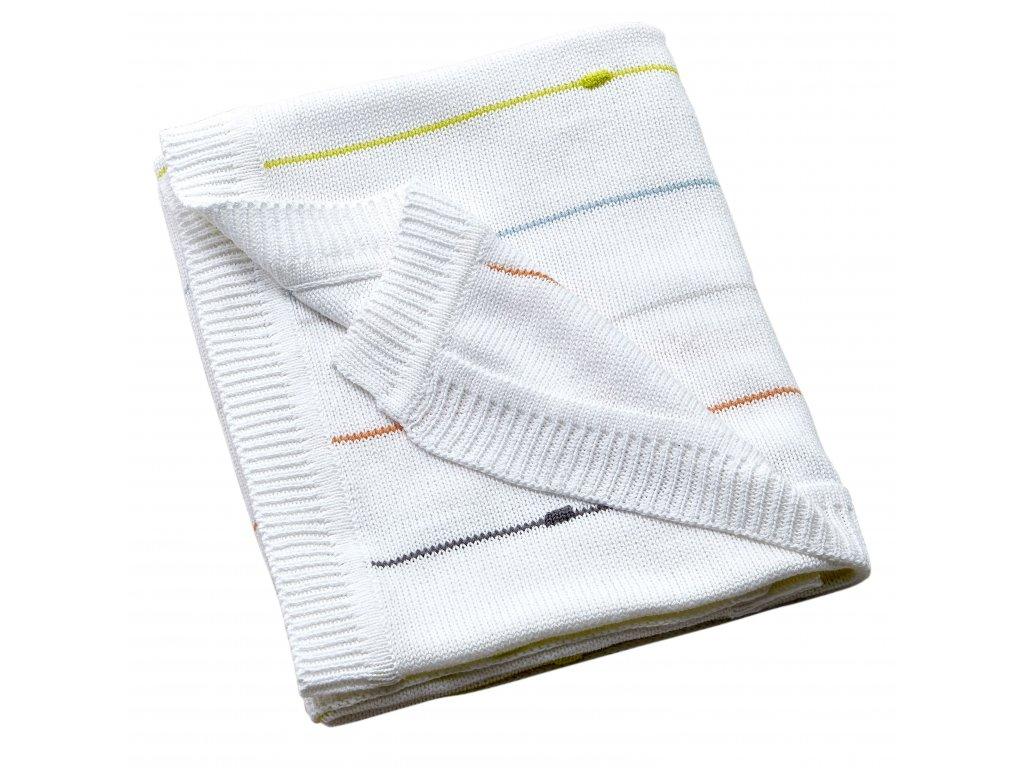 #263006 7 Safari Friends Knitted Blanket CO (Folded) (1)