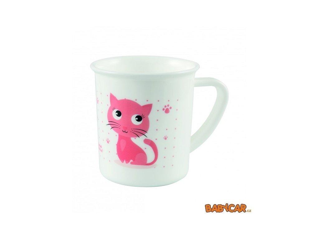 CANPOL BABIES plastový hrníček CUTE ANIMALS Kočka