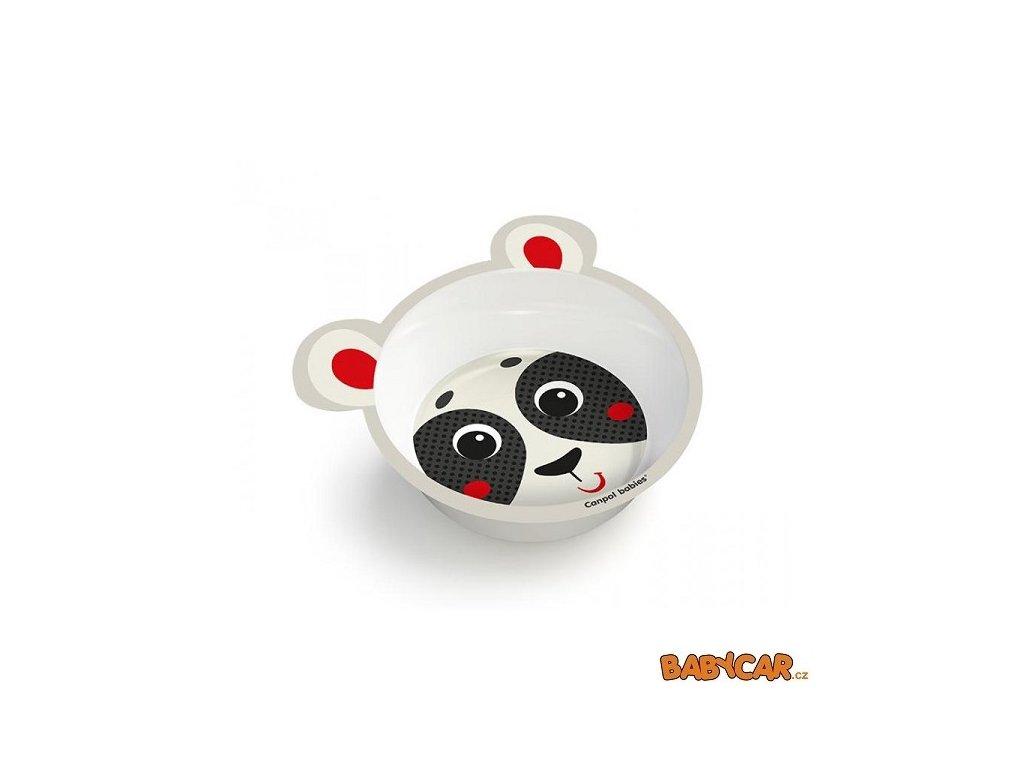 CANPOL BABIES melaminová miska protiskluzová s oušky HELLO LITTLE Panda