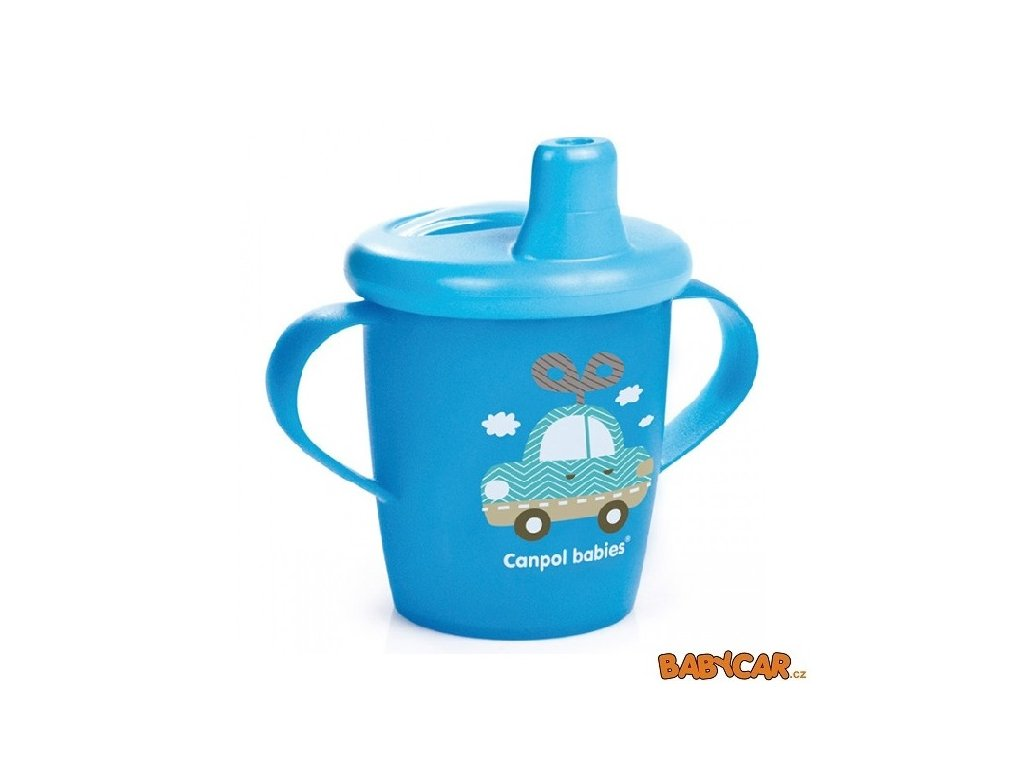 CANPOL BABIES nevylévací hrníček TOYS Modrá