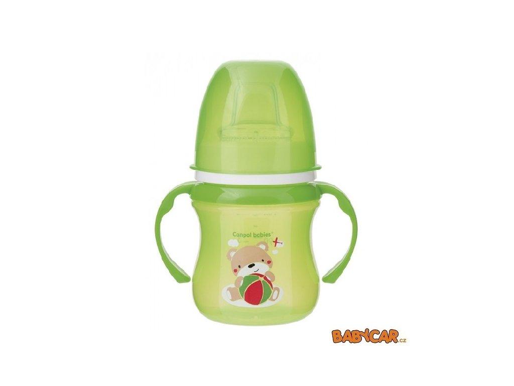 CANPOL BABIES tréninkový hrníček SWEET FUN Zelená