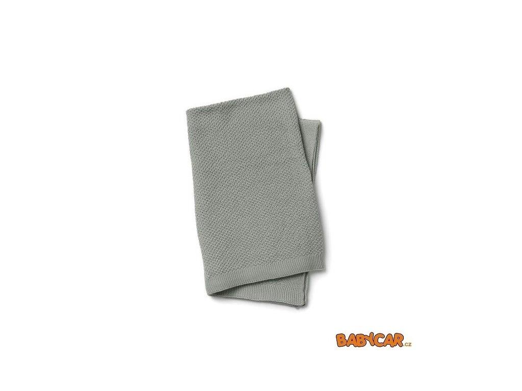 ELODIE DETAILS pletená deka MOSS-KNITTED BLANKET Mineral Green