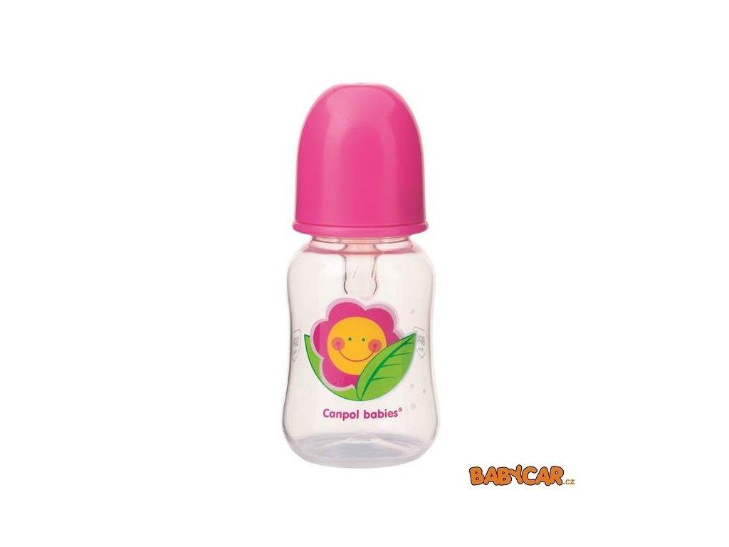 CANPOL BABIES láhev s potiskem HAPPY GARDEN 125ml Růžová DOPRODEJ!