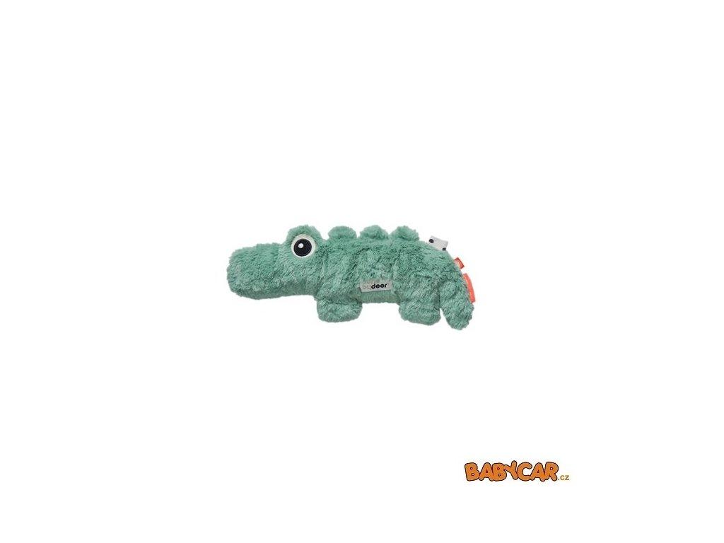 DONE BY DEER mazlivá hračka malá CROCO Zelená