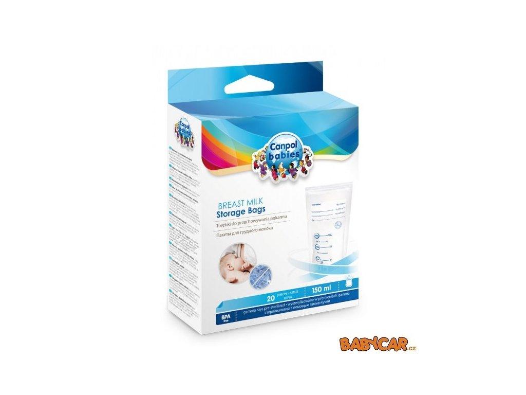 CANPOL BABIES sáčky k uchovávání odsátého mléka 20ks