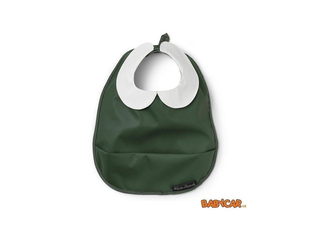 ELODIE DETAILS pogumovaný bryndák s kapsou BABY BIB Valley Green DOPRODEJ!