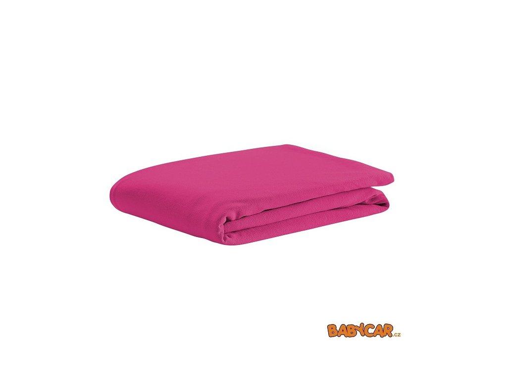 ODENWÄLDER bavlněné prostěradlo UNI Soft Pink