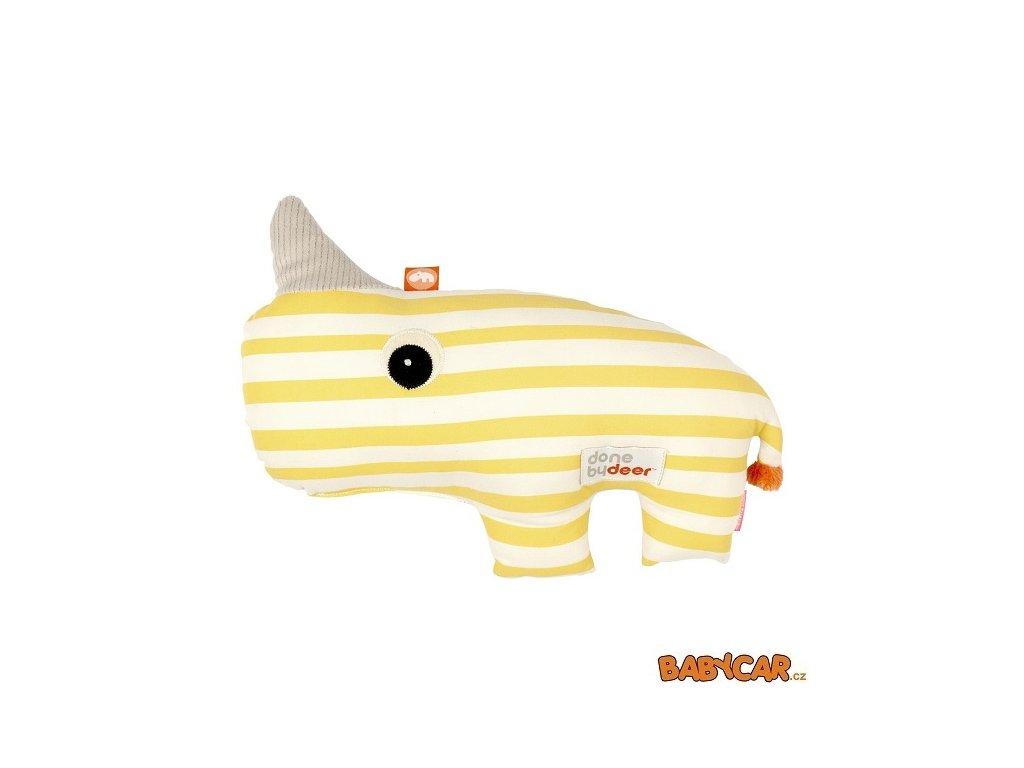 DONE BY DEER mazlivá 2D hračka NOZO Žlutá DOPRODEJ!