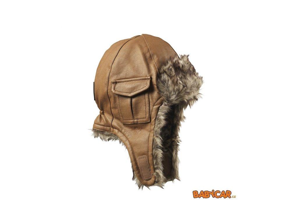 ELODIE DETAILS zimní čepice ušanka CAP Chestnut Leather 6-12m DOPRODEJ!