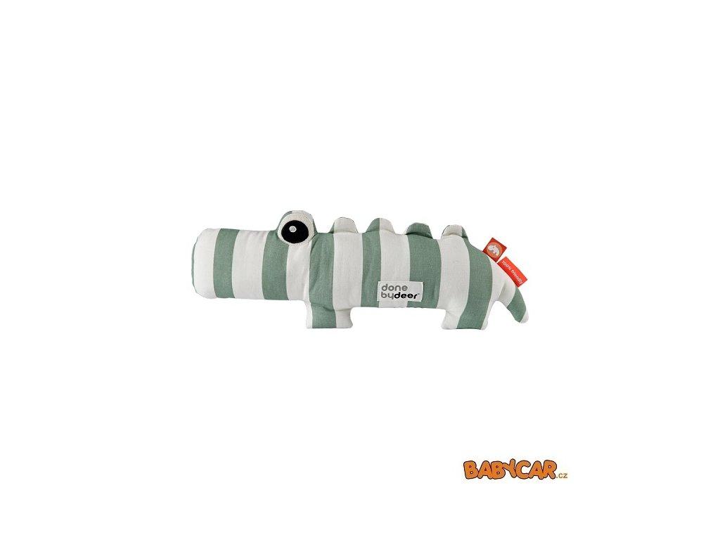 DONE BY DEER mazlivá hračka CROCO Proužky/Zelená