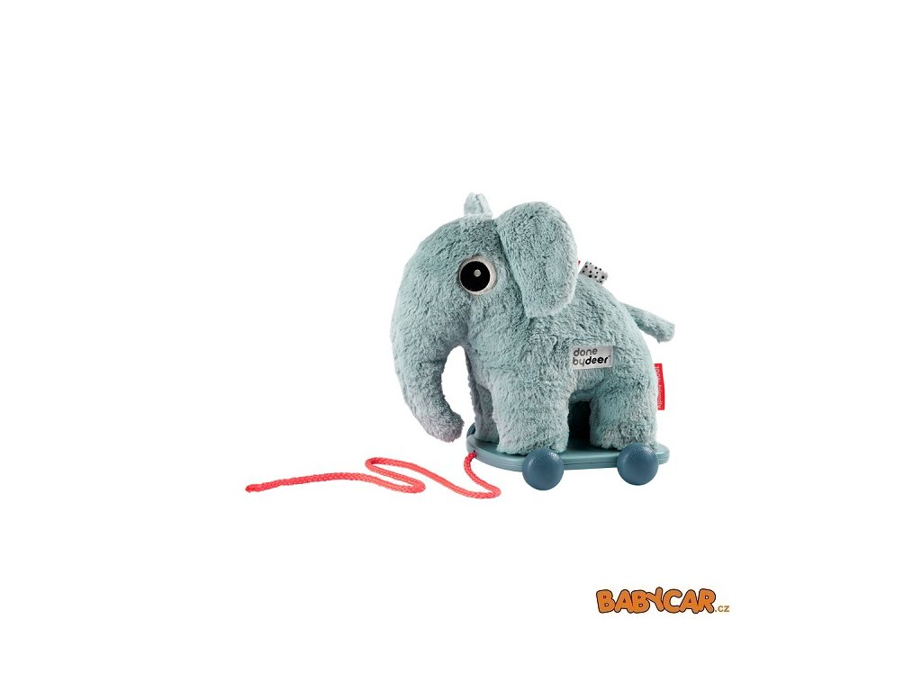 DONE BY DEER hračka na kolečkách ELPHEE Modrá